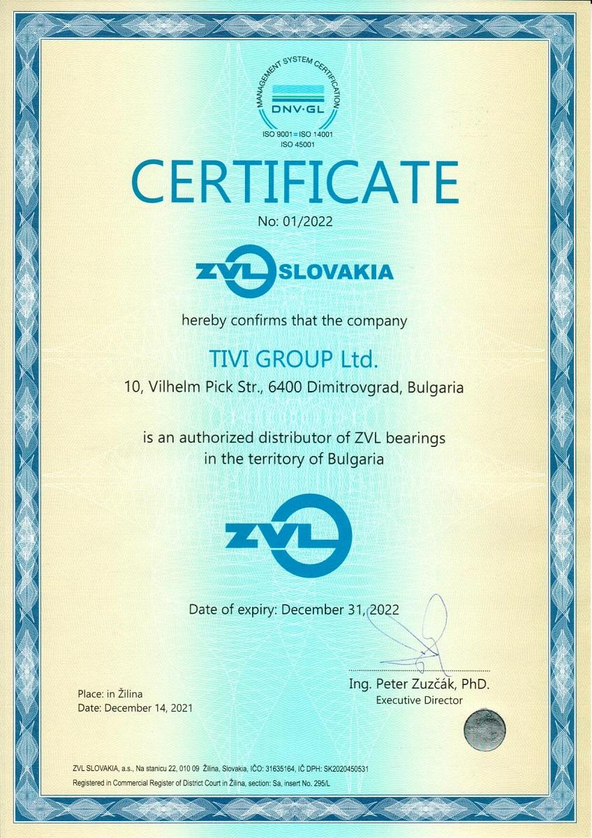 Certificate ZVL